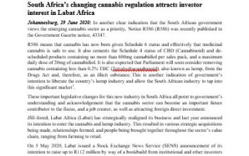 South Africa's changing cannabis regulation attracts investor interest in Labat Africa